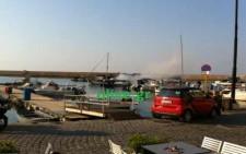 Πυρκαγιά στο Παλιό Λιμάνι - Χανιά ΤΩΡΑ